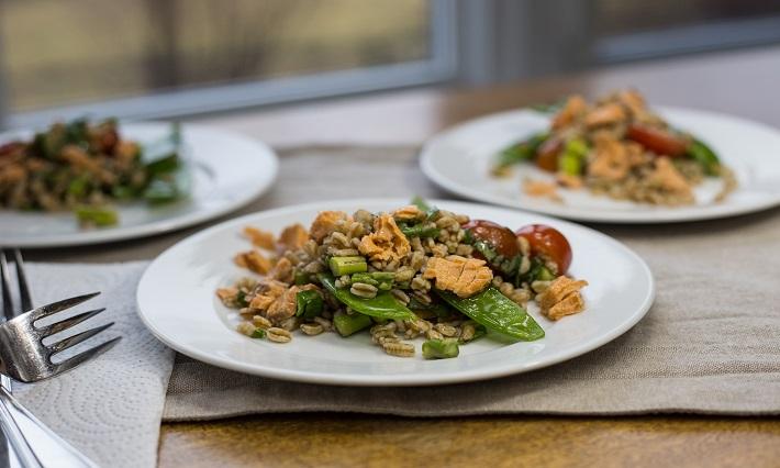 Salmon and Asparagus Farro Salad