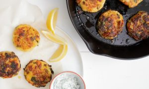 Sockeye Salmon and Potato Cakes