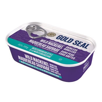 One can of Gold Seal Wild Mackerel Mediterranean Style