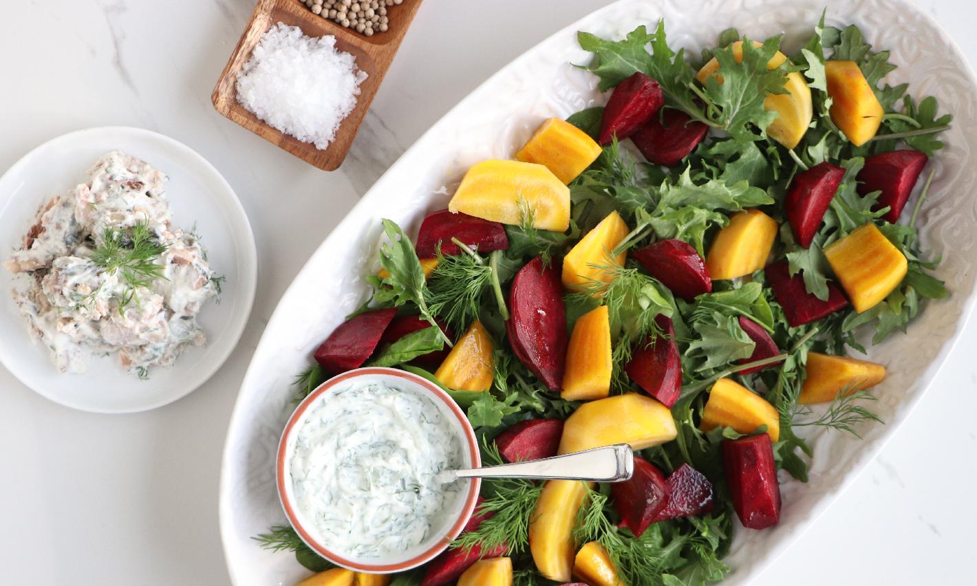 Beet and Sardine Salad