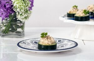 Mackerel Pate on sliced cucumber