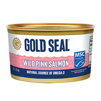 One can of Gold Seal Traditional Wild Pink Salmon