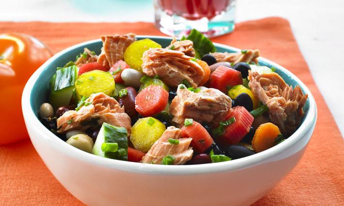Salmon and Six Bean Salad
