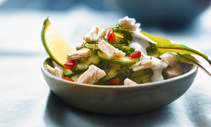 Tuna and Cucumber Salad