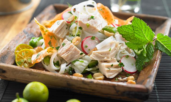 Tuna Vietnamese-Style Rice Noodle Salad