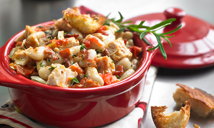 Tuna and White Bean Cassoulet