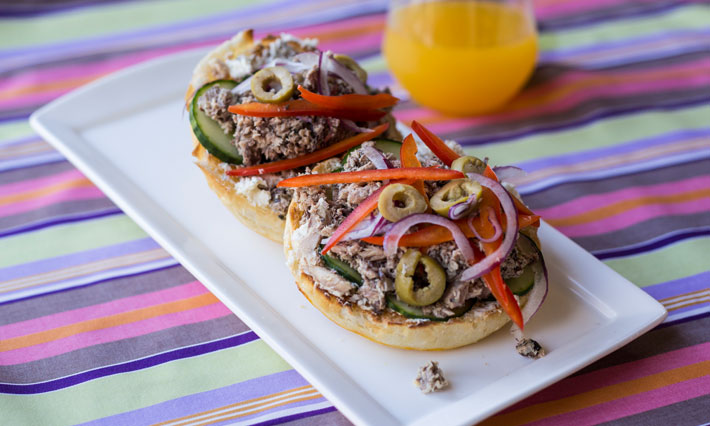 Open Face Sardine Sandwich