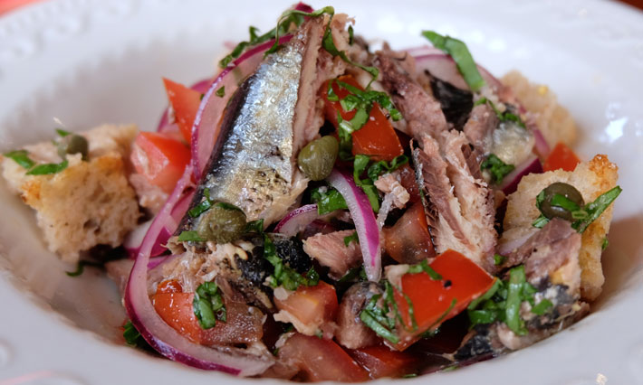 Sardine and Bread Salad