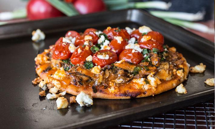Thai Chili Sardine Pita Pizza