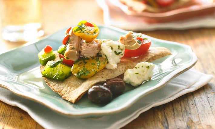 Tuna and Cucumber Bruschetta