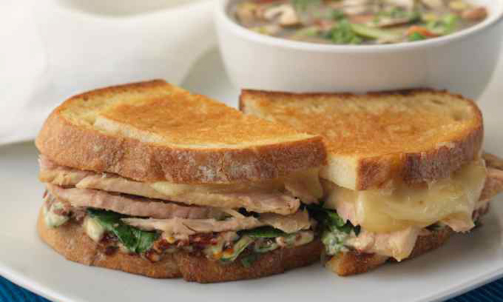 Grilled Tuna and Swiss Cheese Sandwich