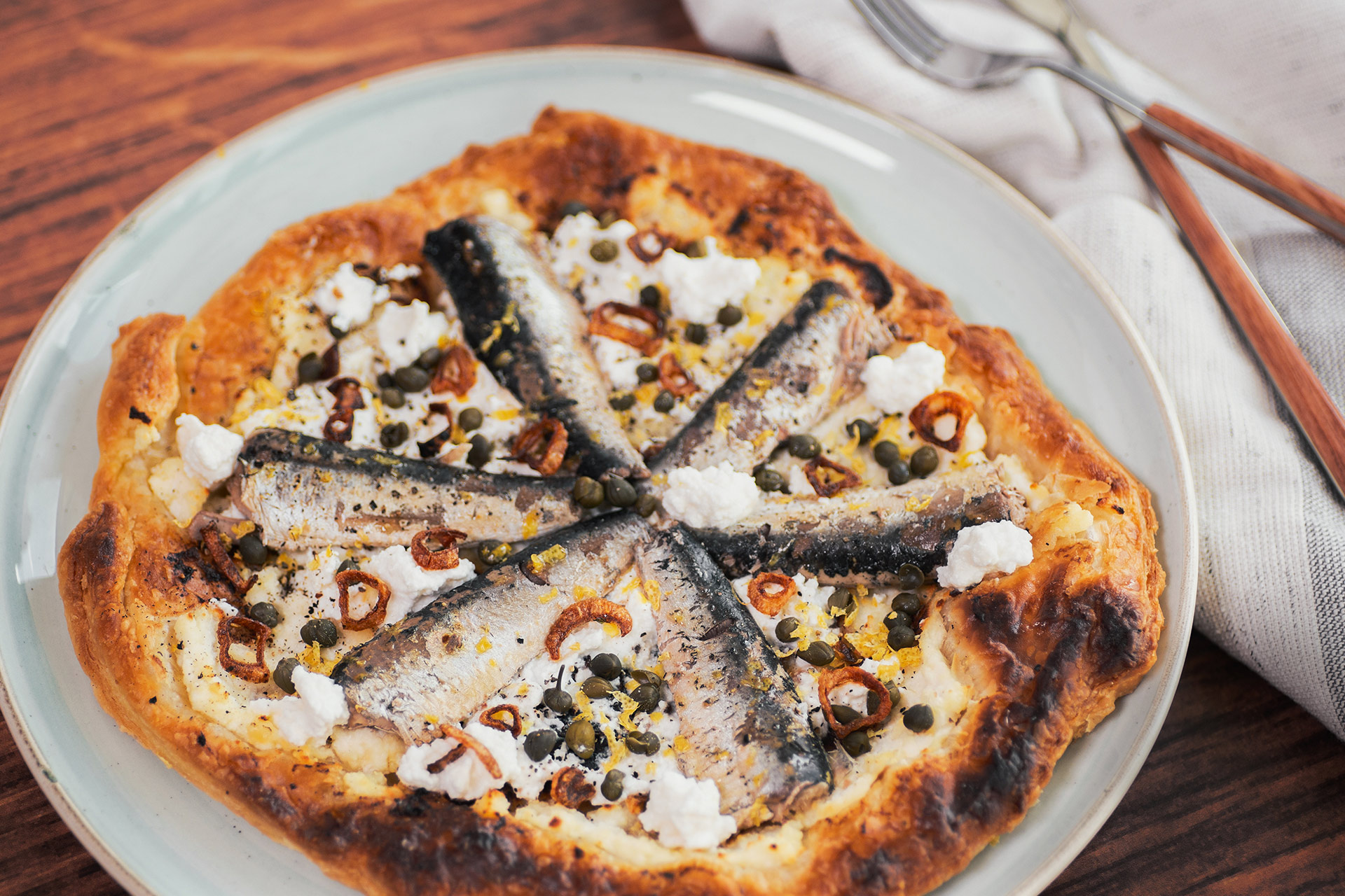 Sardine and Ricotta Tart