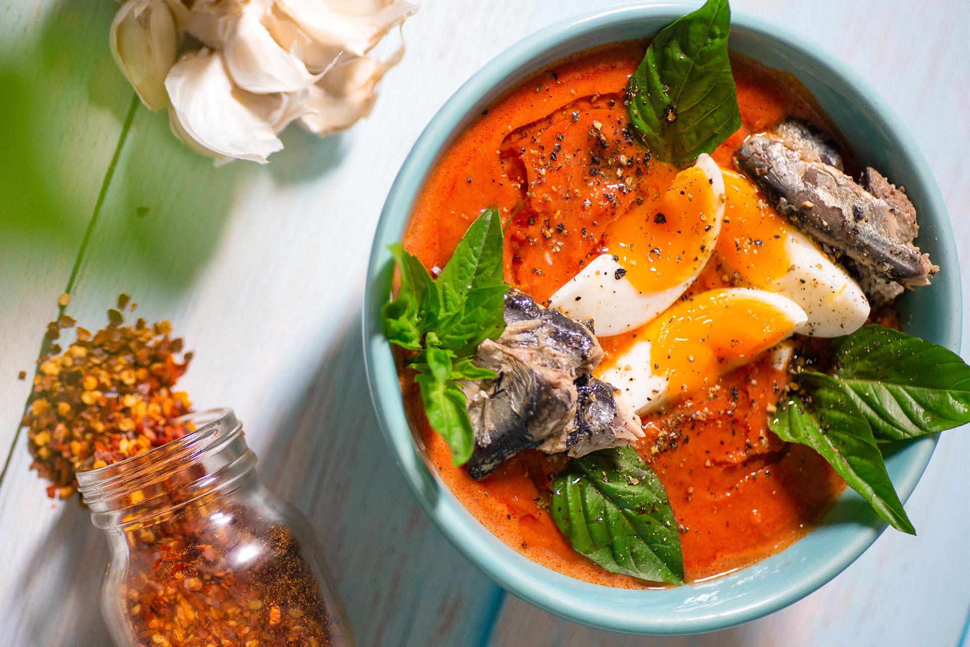 Spanish Salmorejo Sardine Soup