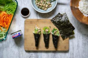 Salmon Furikake Hand Rolls