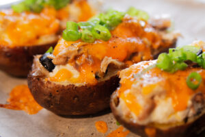 Mackerel Baked Potatoes