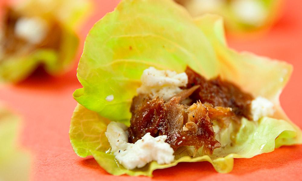 Smoked-Mackerel-Goat-cheese-and-Honey-Lettuce-Wraps-1