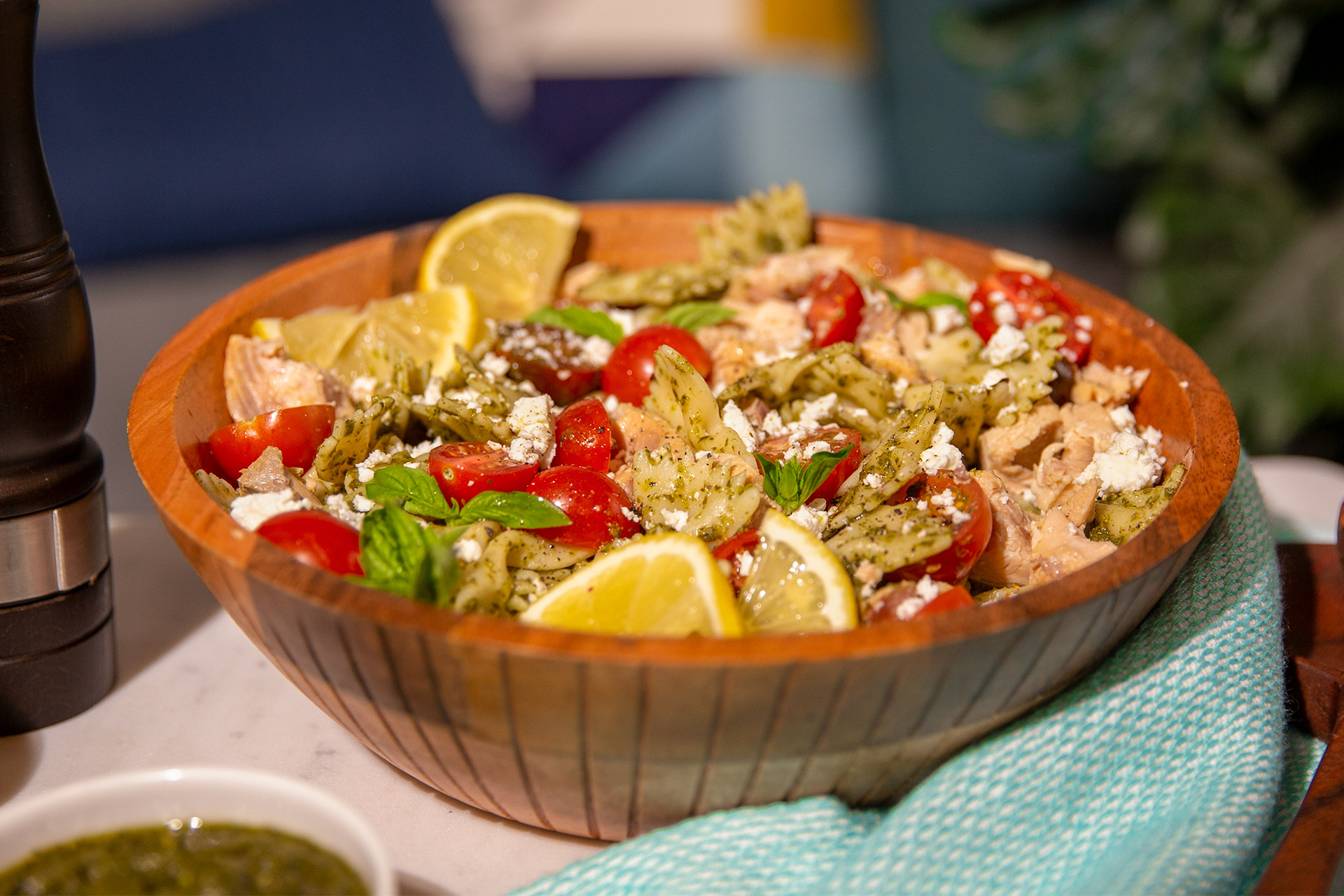 Salmon Pesto Salad