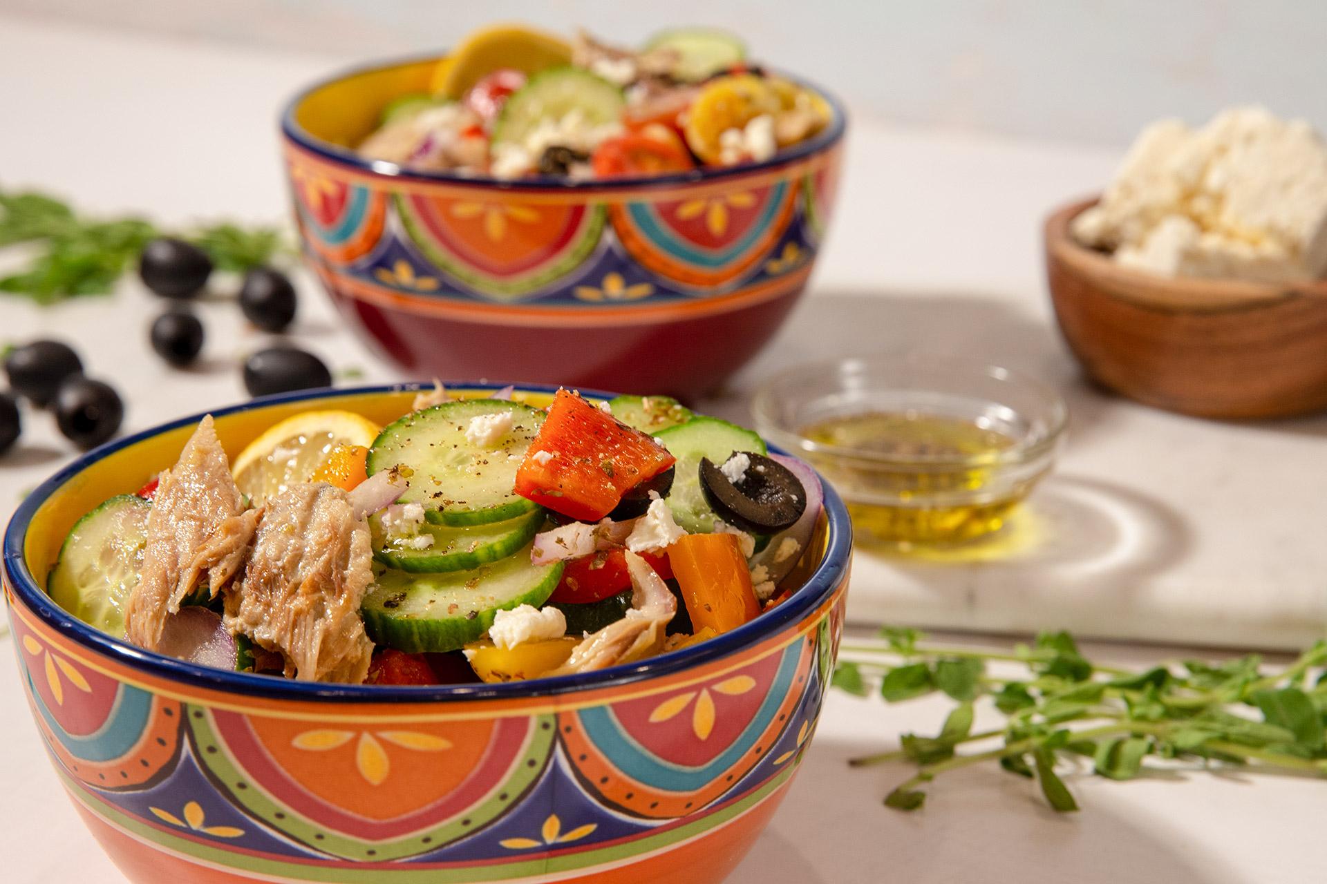 Mackerel Greek Salad