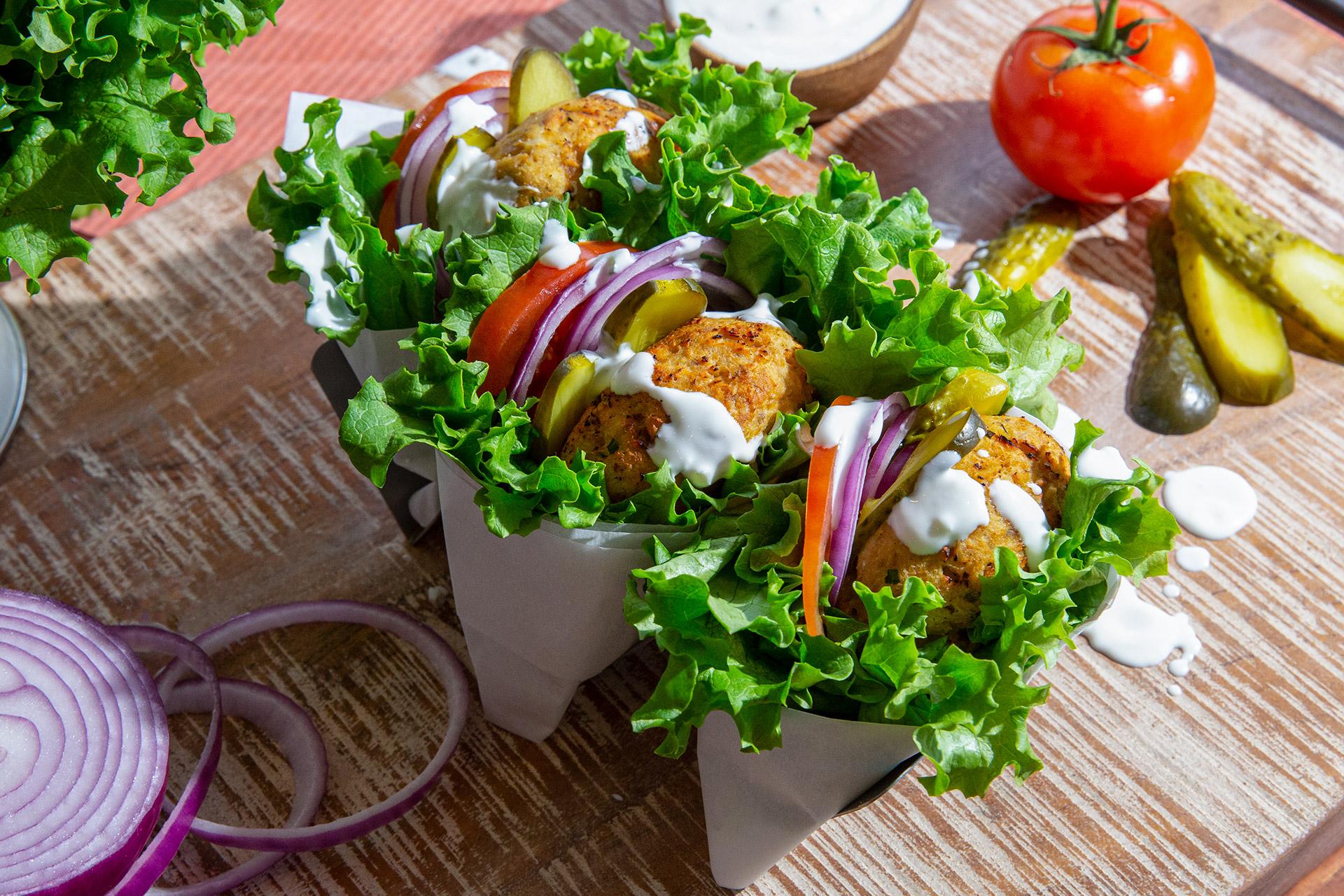 Salmon Lettuce Burgers