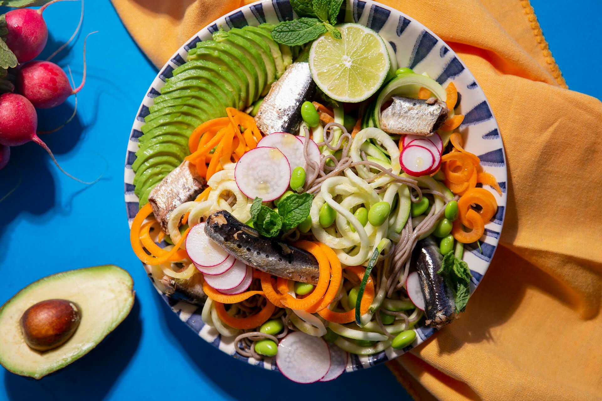 Sardine Soba Noodle Salad